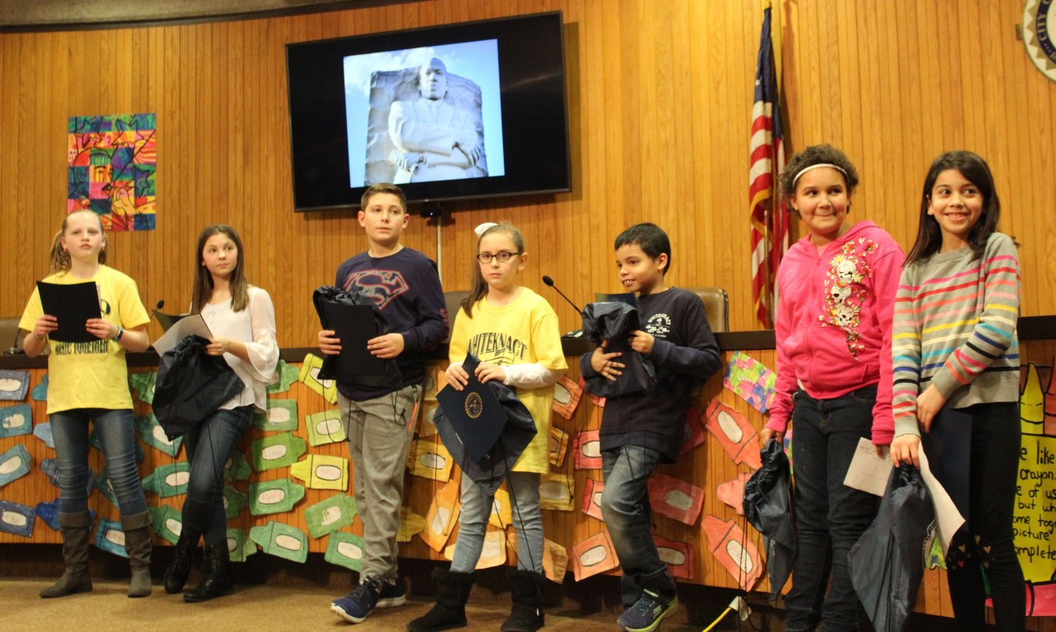 East Providence students at MLK ceremony last month