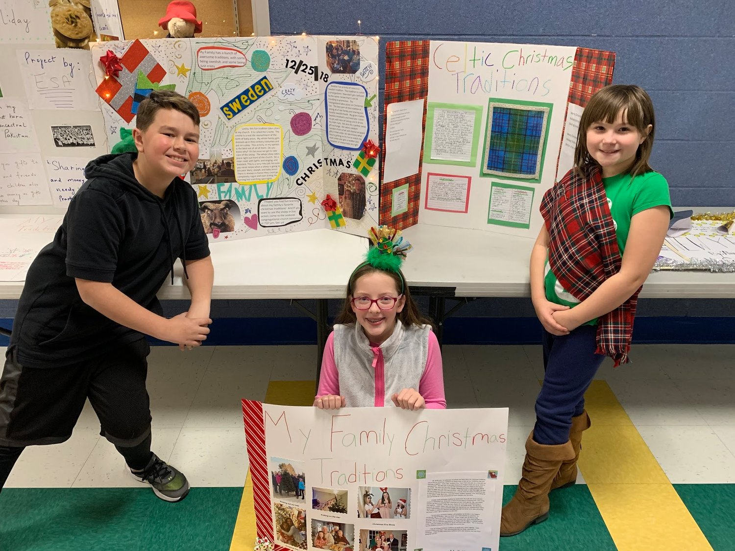 Grade 5 Cultural Traditions: Ethan Booth, Julia Tortolani, Sophia Kelly