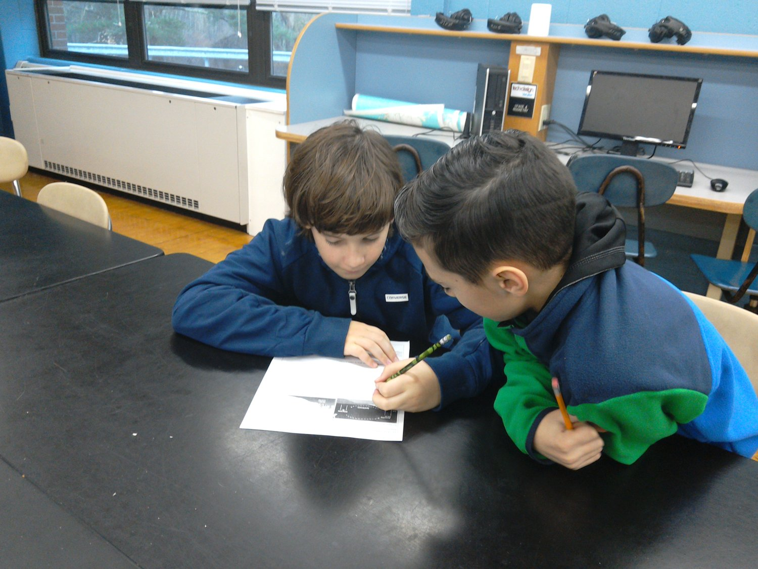 Learning In Action: Two students work together in Mr Kennys STEM class