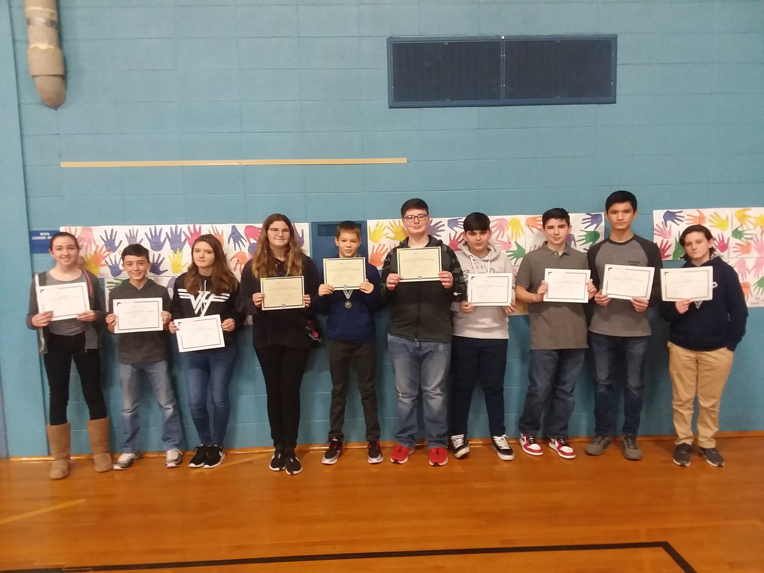 Participants in Beckwith National Geographic Bee