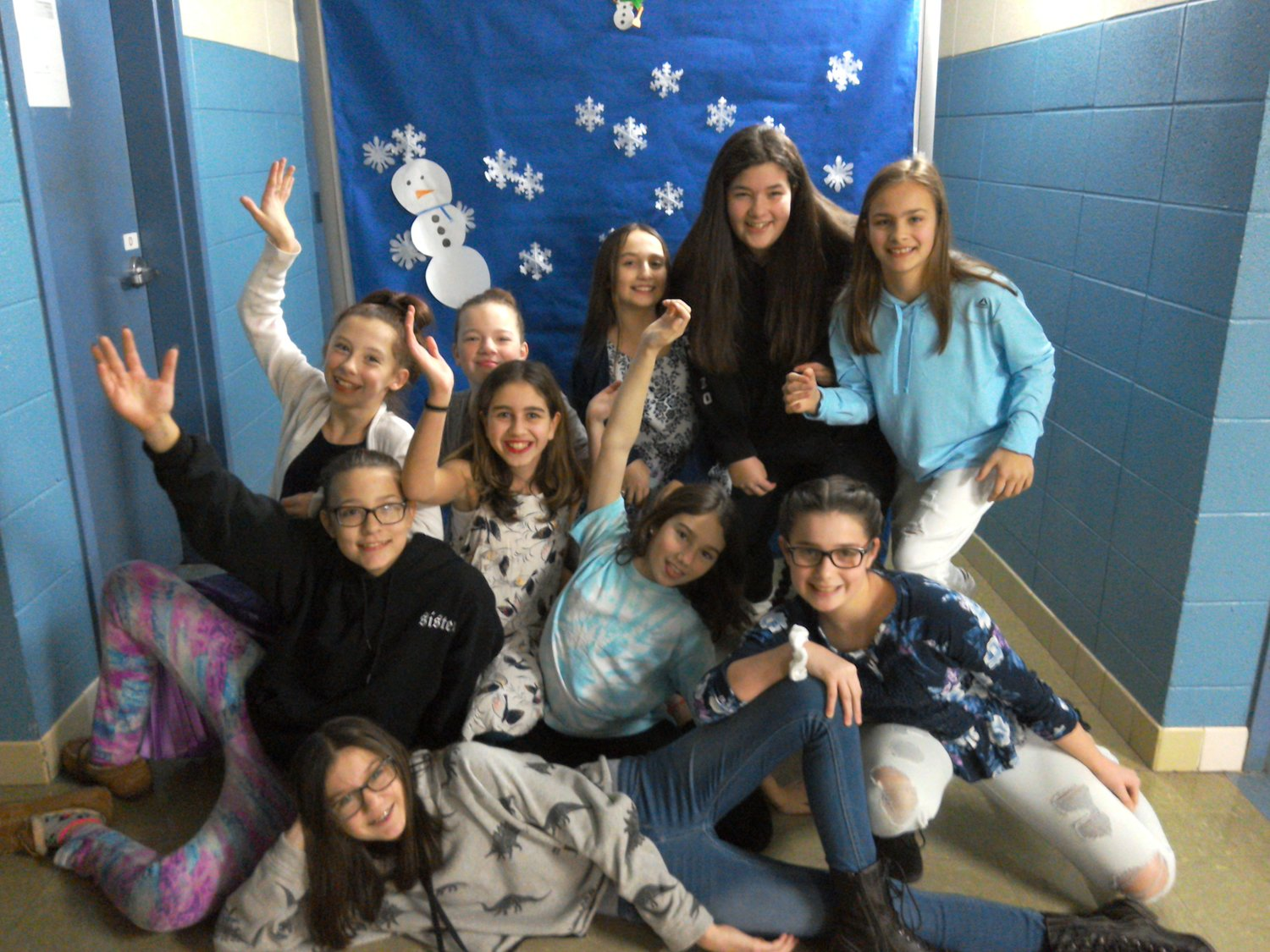 Students had fun with the Winter Wonderland dance photo booth
