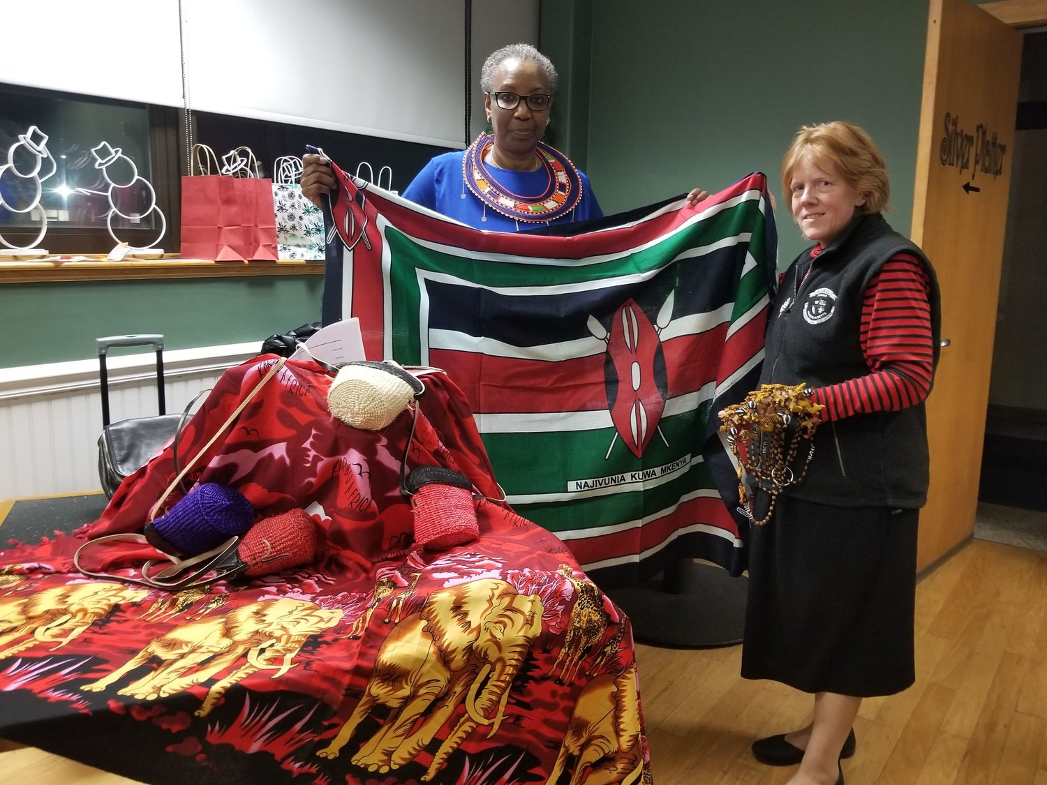 Guest from Kenya, Mary Njeri and Vice President Robin Gendron