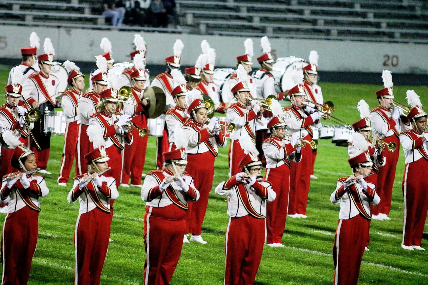 Townie marching band at Pierce Stadium