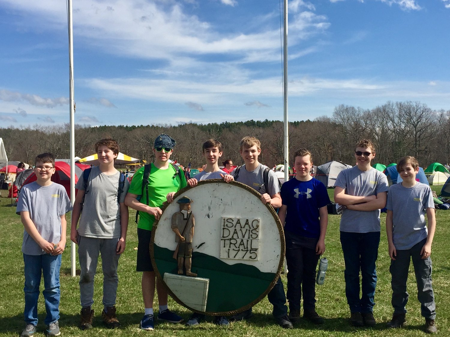 Troop 3 North Dighton attend Isaac Davis Camporee and March