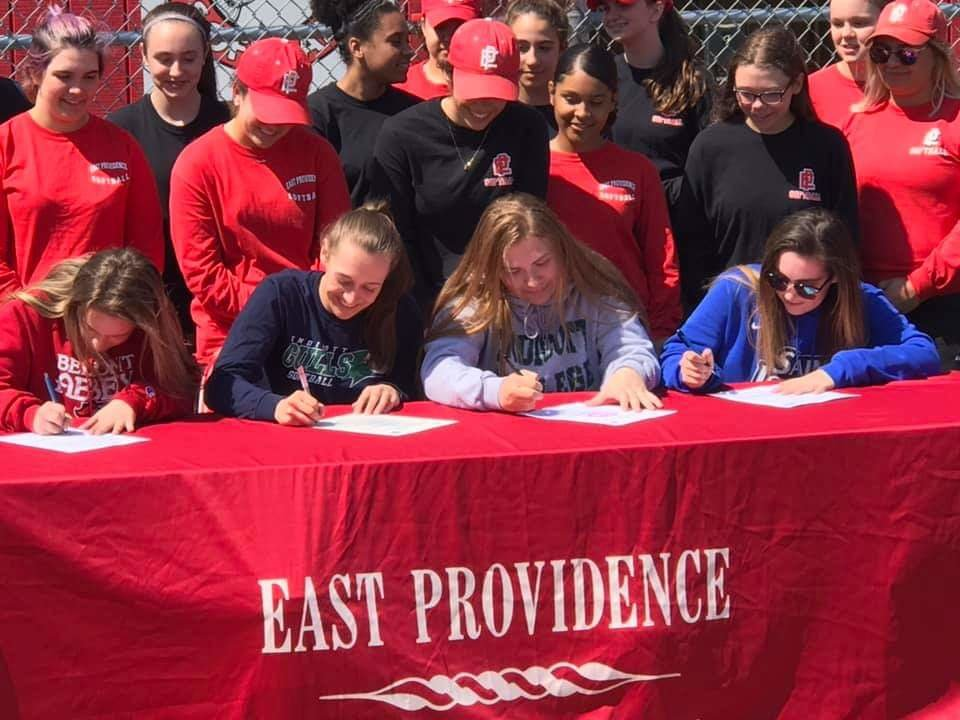 Townie softball players on their way to playing college ball
