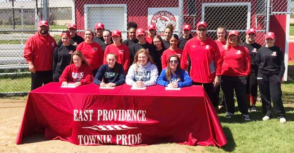 Townie softball team and coaches on letter of intent signing day