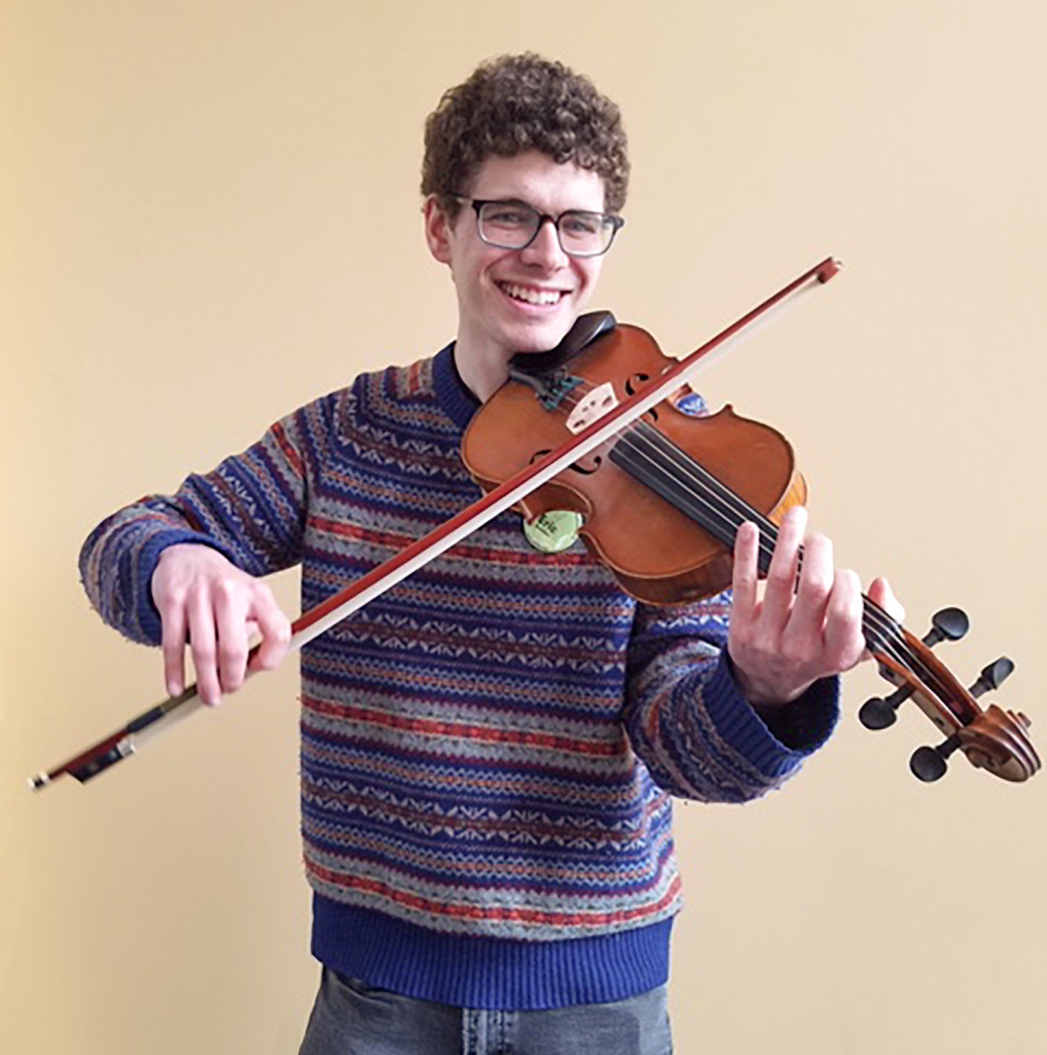 Eric Boodman plays fiddle at the Rehoboth contra dance on Friday, June 14