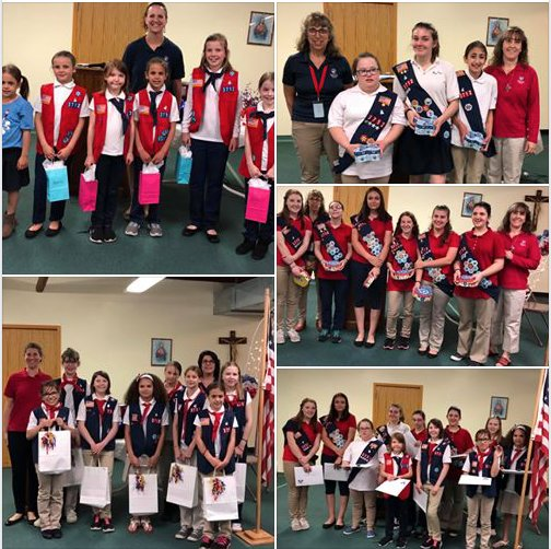 American Heritage Girls Troop MA3712 celebrate End of the Year Ceremony