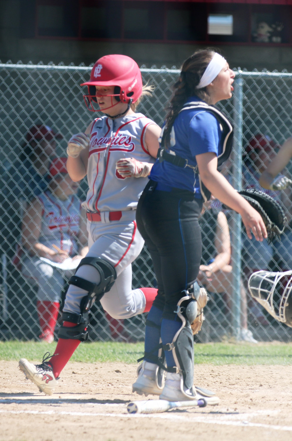 Taylor Babcock scoring run for Townies against Cumberland