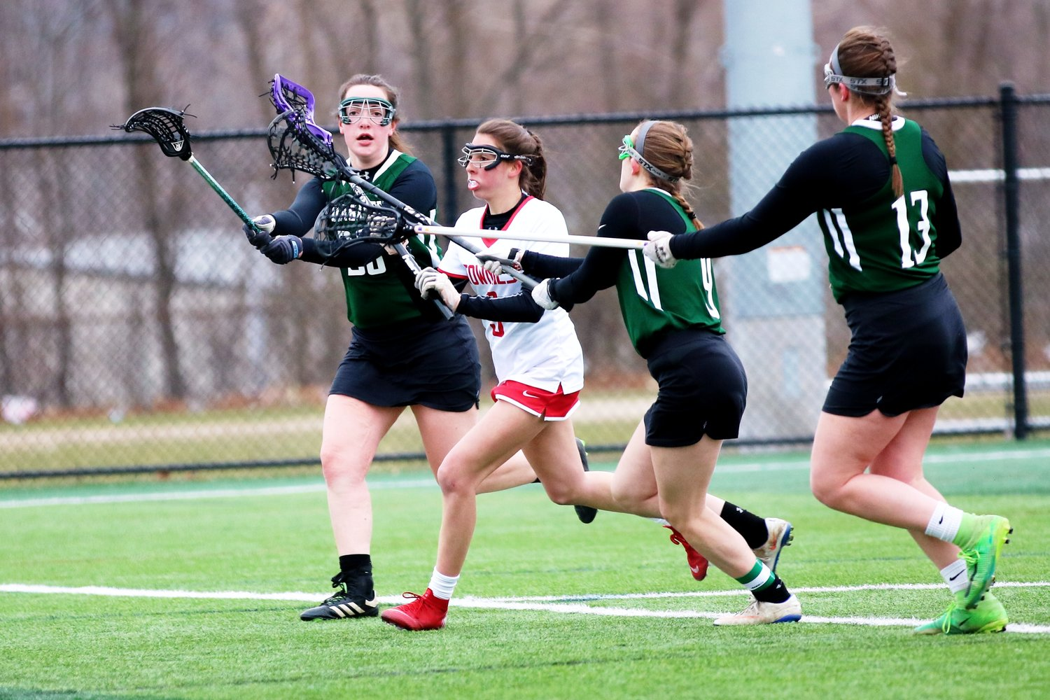 Ashley Dias on the attack for EP girls LAX