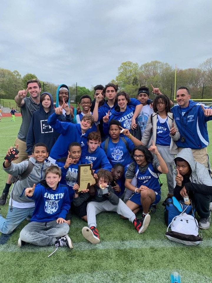 State Champs. Martin Middle School Boys Track. MMS Photo