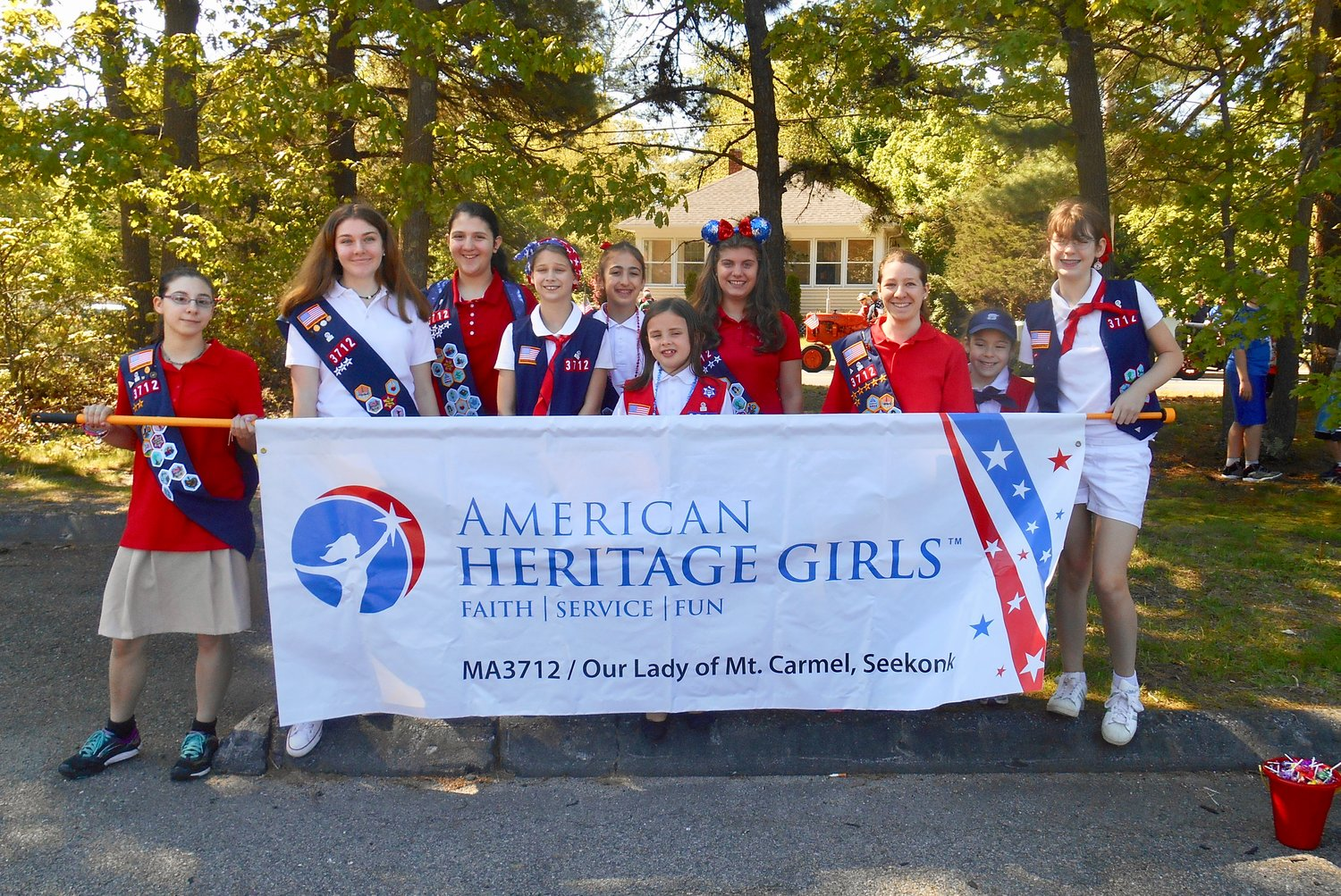 American Heritage Girls Troop MA3712 proud to participate in Parade