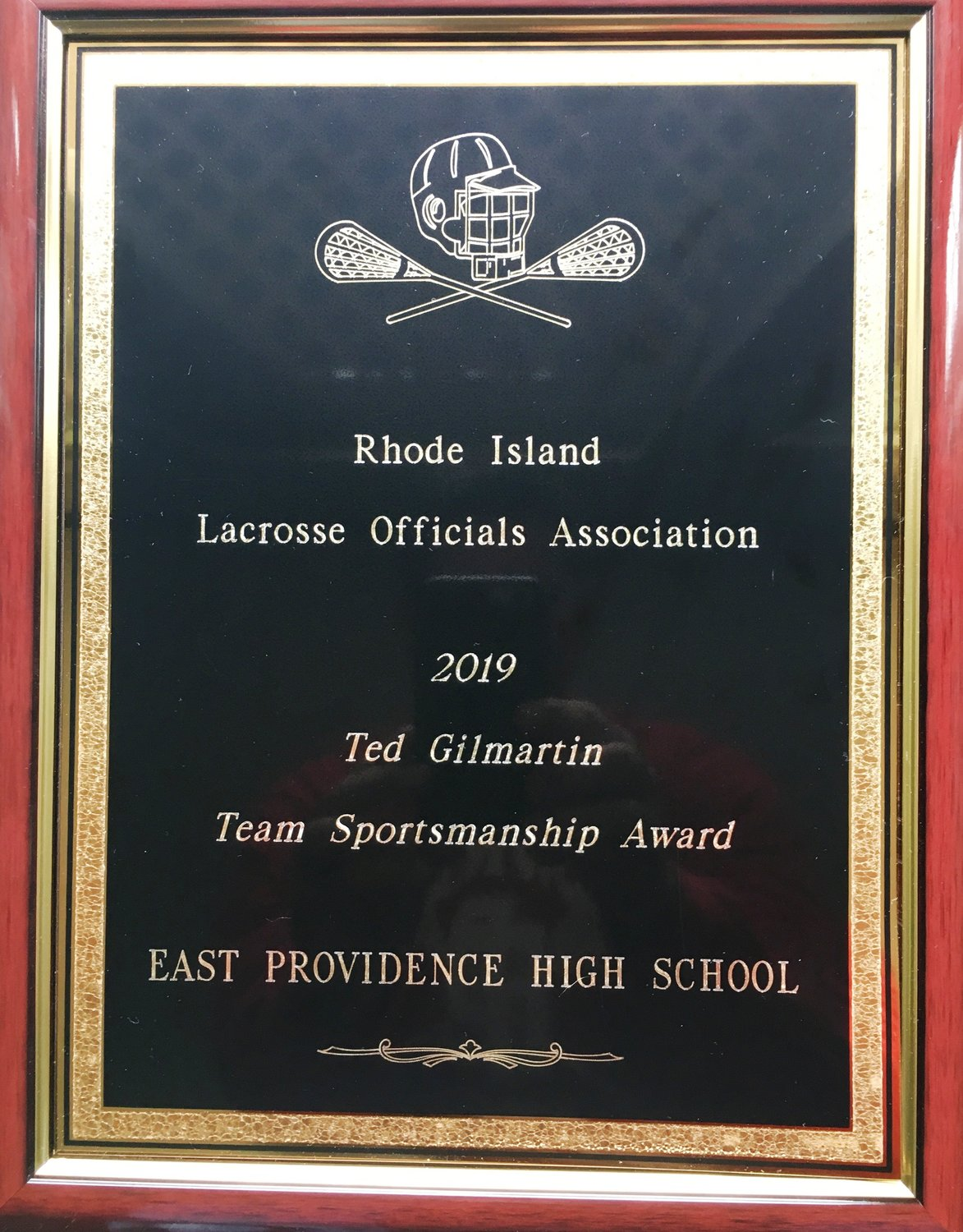 2019 RI Team Sportsmanship Award Lacrosse