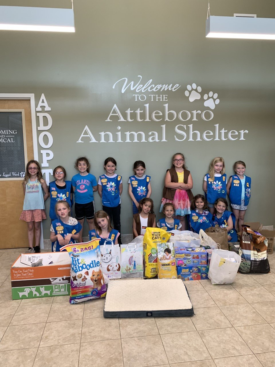 Rehoboth Girl Scout Troop 694 helps out Animal Shelter