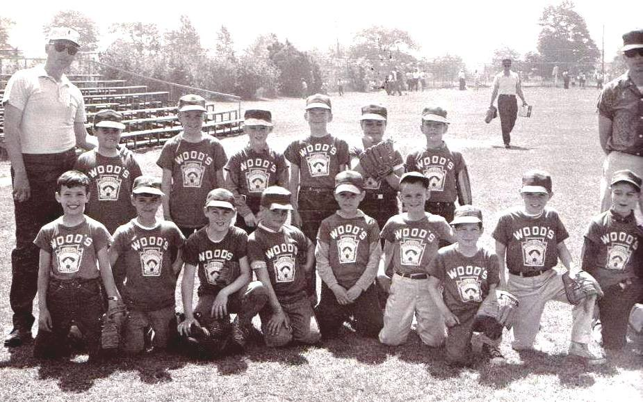 The Wood's little league team in the 1960's coached by Robert Amaral, pictured left back row.