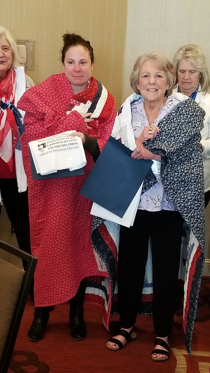 Maryellen Founds and Cindy Brogan Quilts of Valor