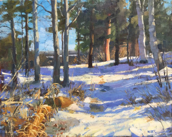 Kathy Weber, Osamequin in Snow, oil