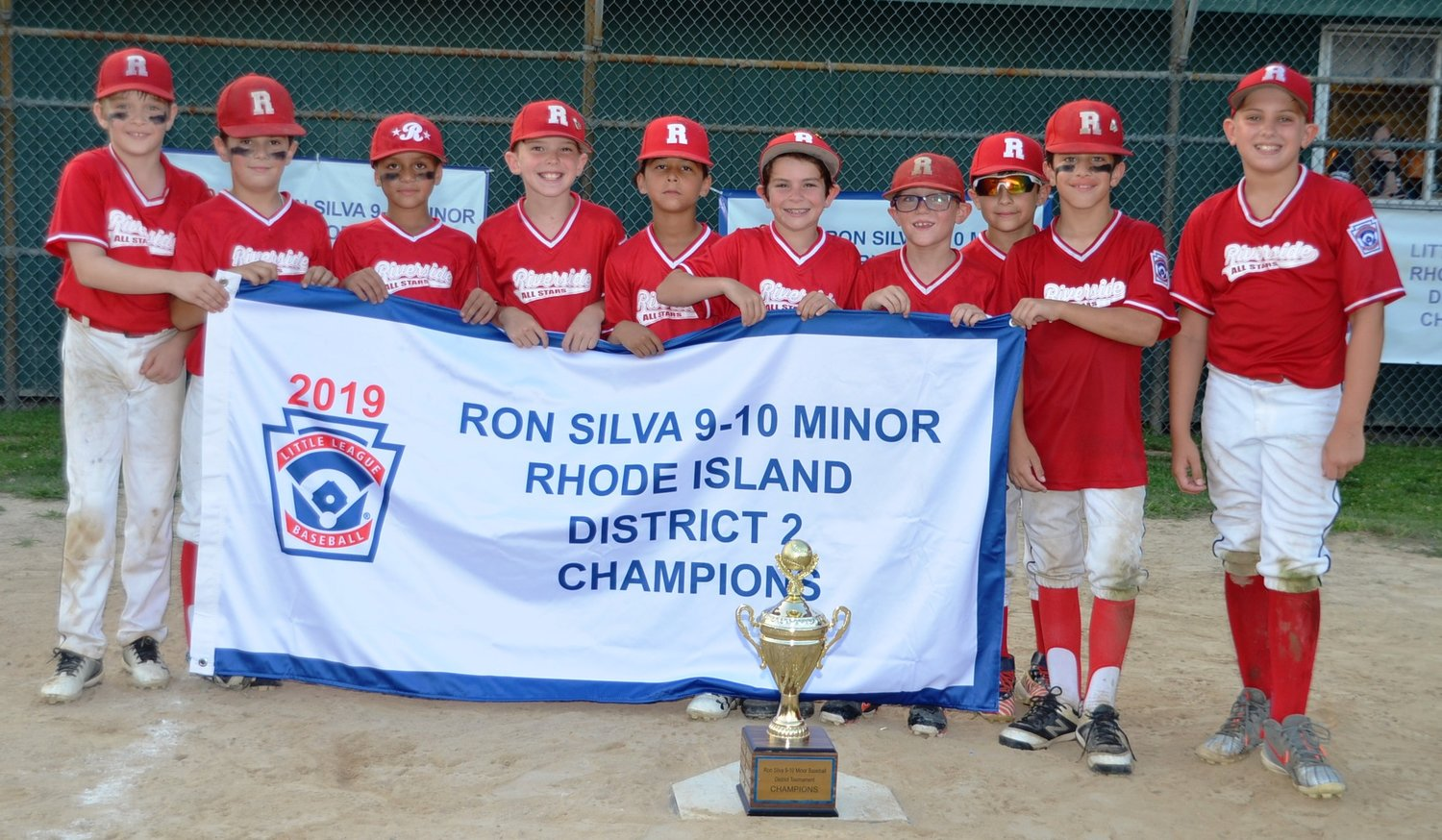 Riverside LL 9-10 Champions third year in a row. Photo by Kathy Saleeba.