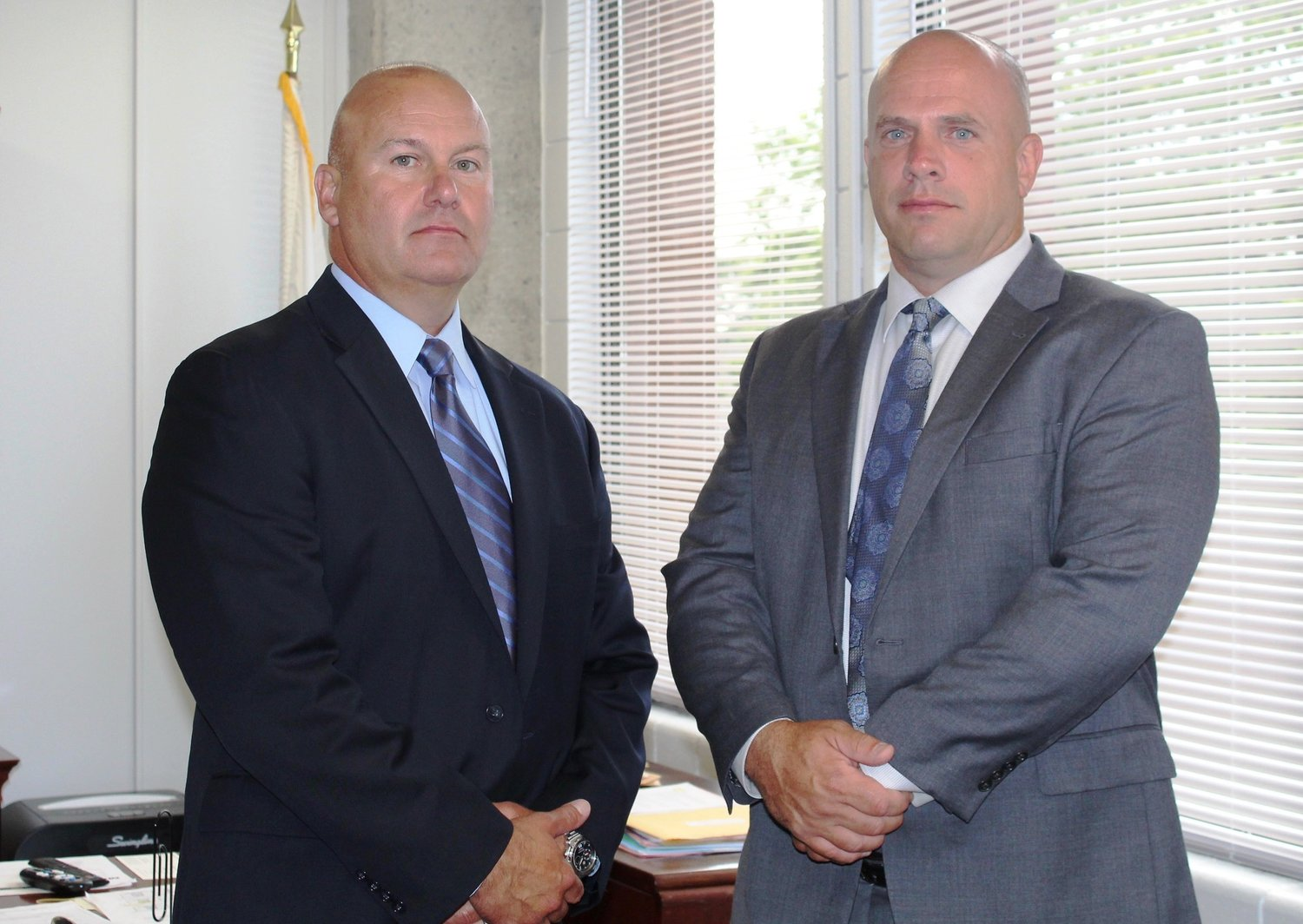 L to R new EP Police Officers William Demers and Stephen Burns