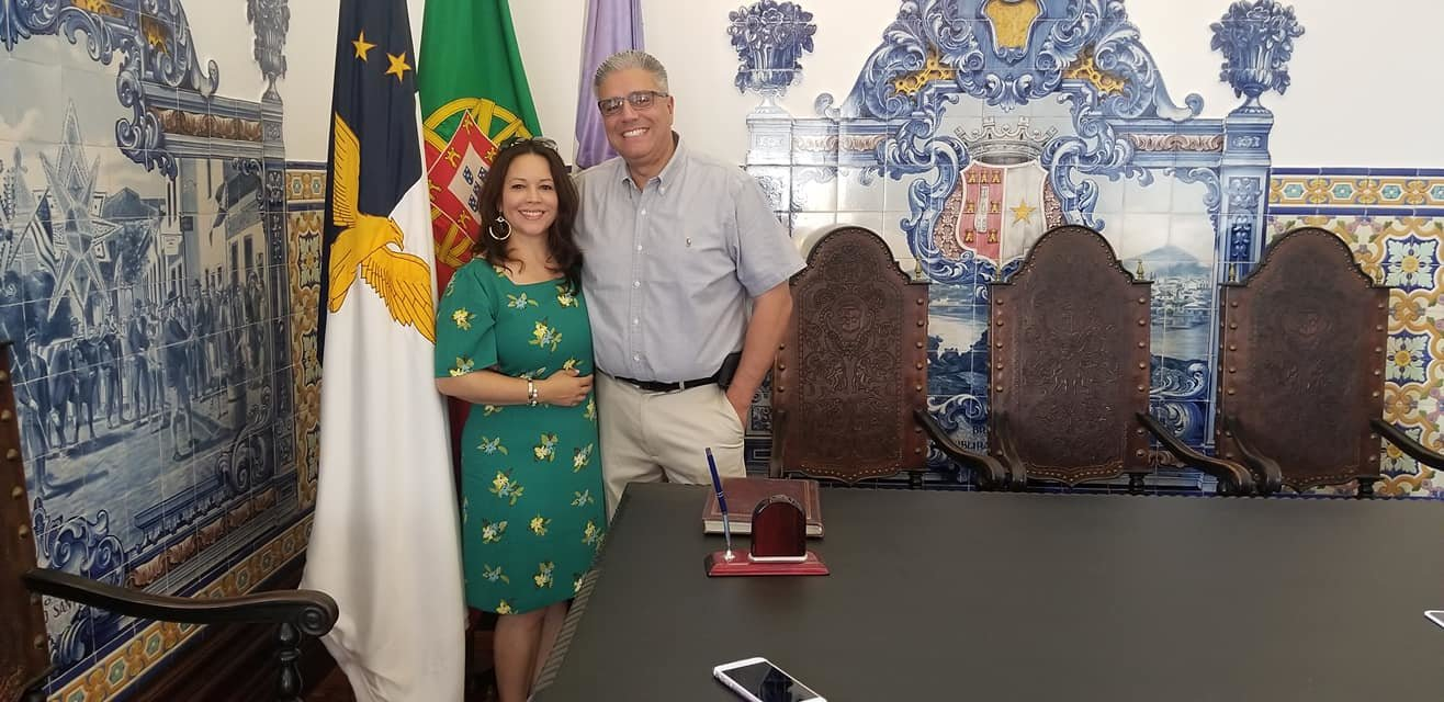 Mayor and Mrs. Bob DaSilva in Rebeira Grande.