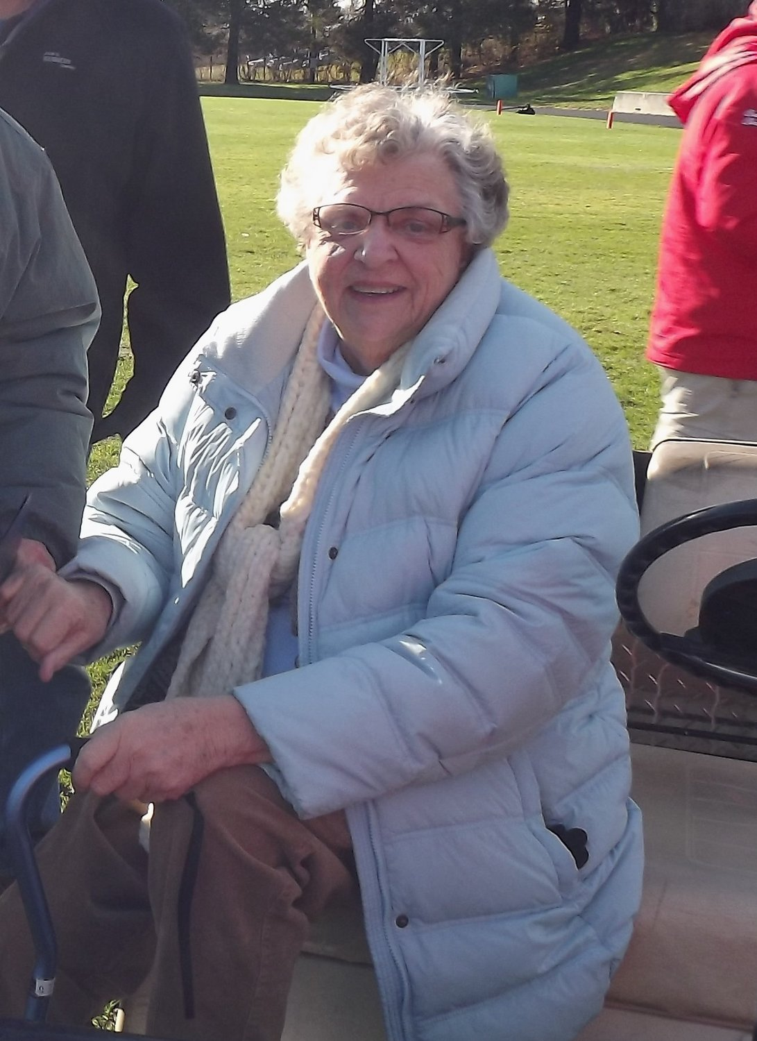 Sheila Stringfellow at Pierce Stadium in 2014 ceremony on Thanksgiving.