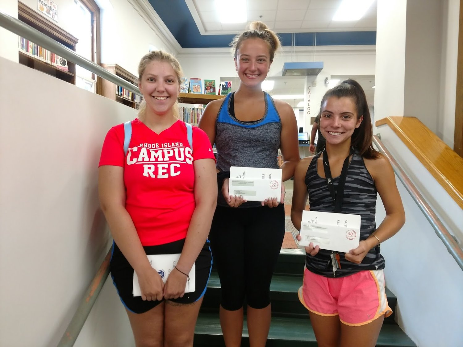 Recipients of scholarships administered by Scholarship Foundation of East Providence this year include, left to right, Emma Anderson, Alison Batty and Kiley Bahry.