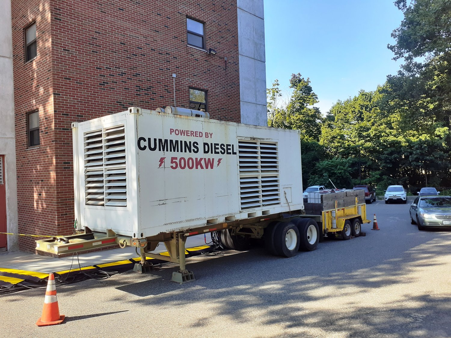 A 500 KW generator is now supplying Harborview with full power