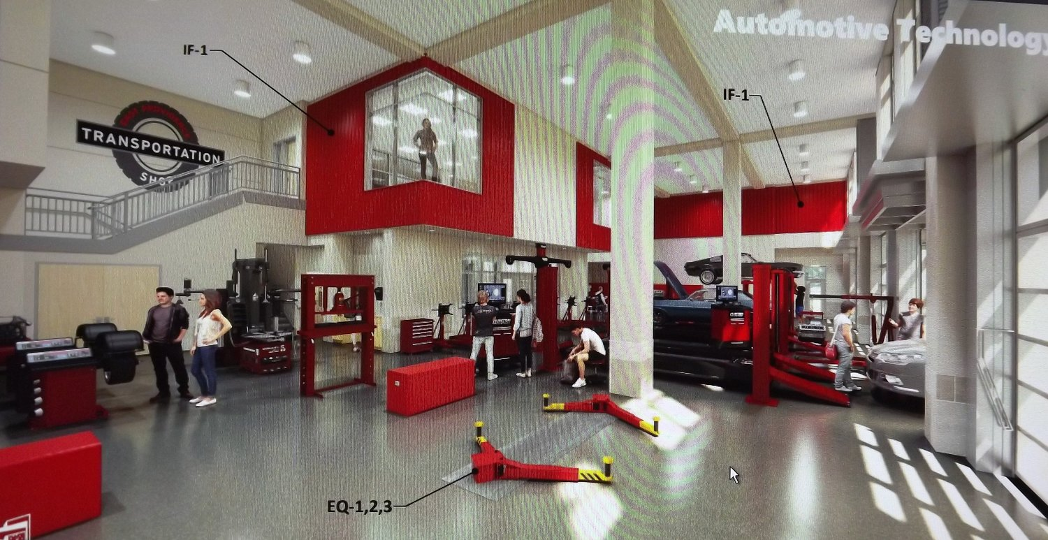 New EPHS auto tech shop rendering