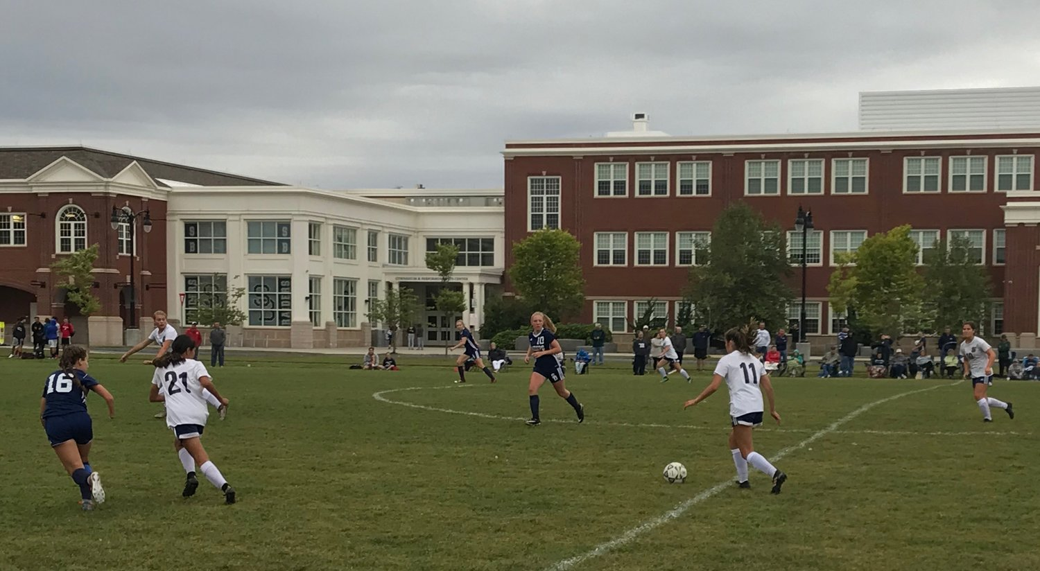 Mia DiBiase moves the ball upfield.