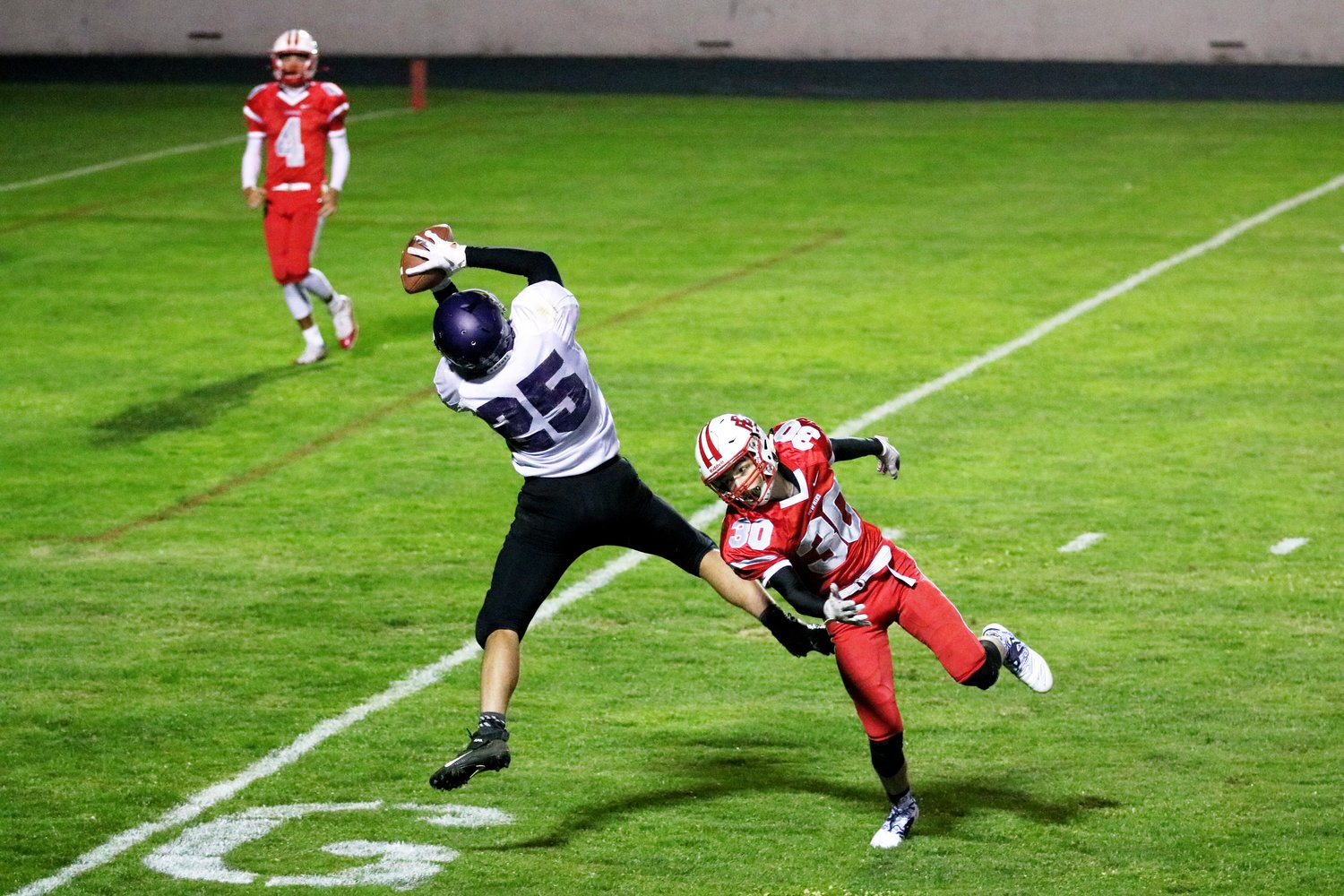 Mt. Hope wide receiver Cory Grifka makes a spectacular catch for a touchdown against EP