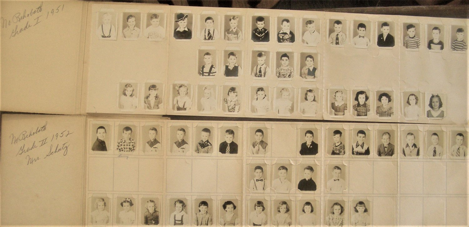 Larry's 1st and 2nd grade class pictures from North Rehoboth School which was built in 1940 and closed in 1980.