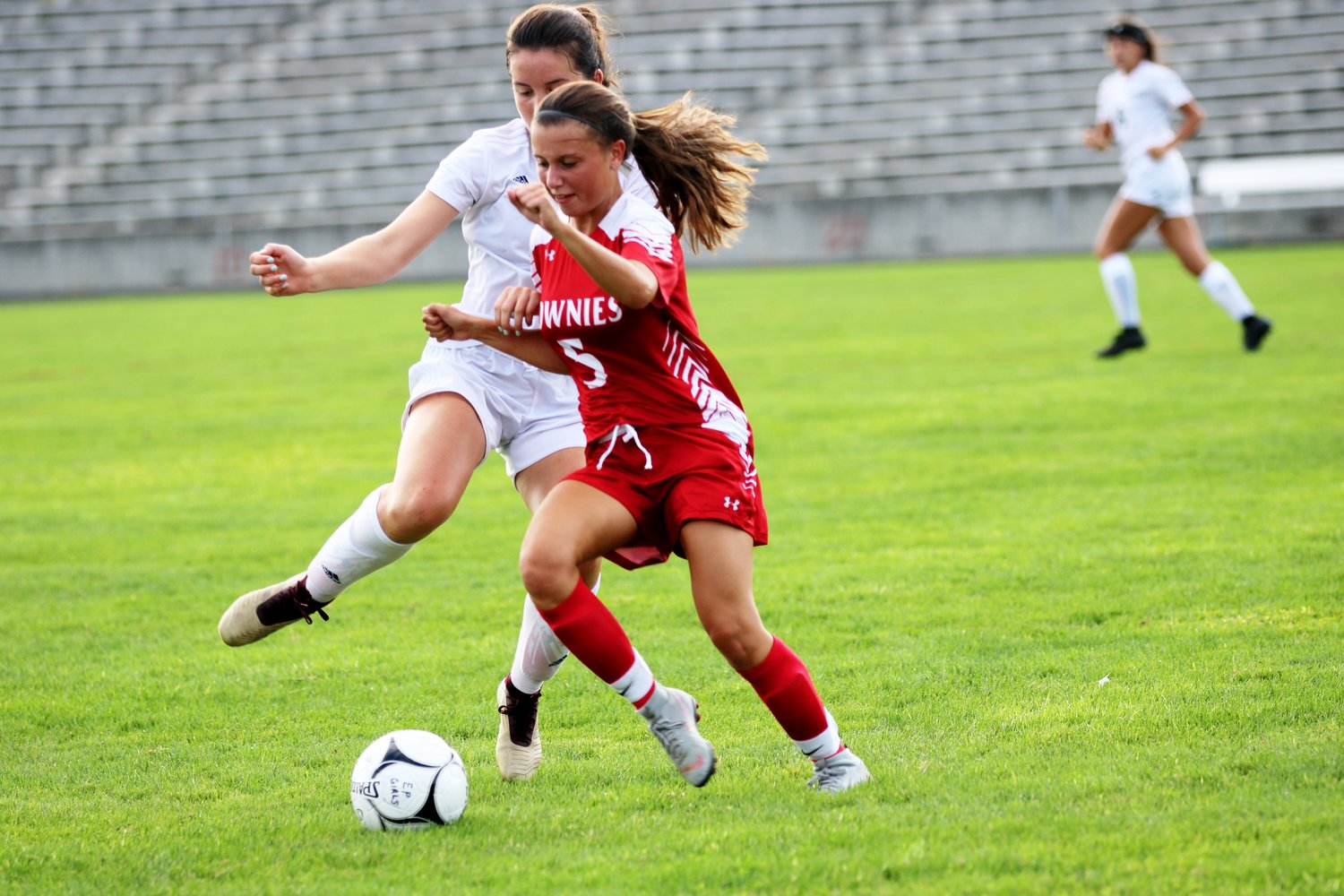 Tessa LaRoche of the Townie soccer team vs Classical.