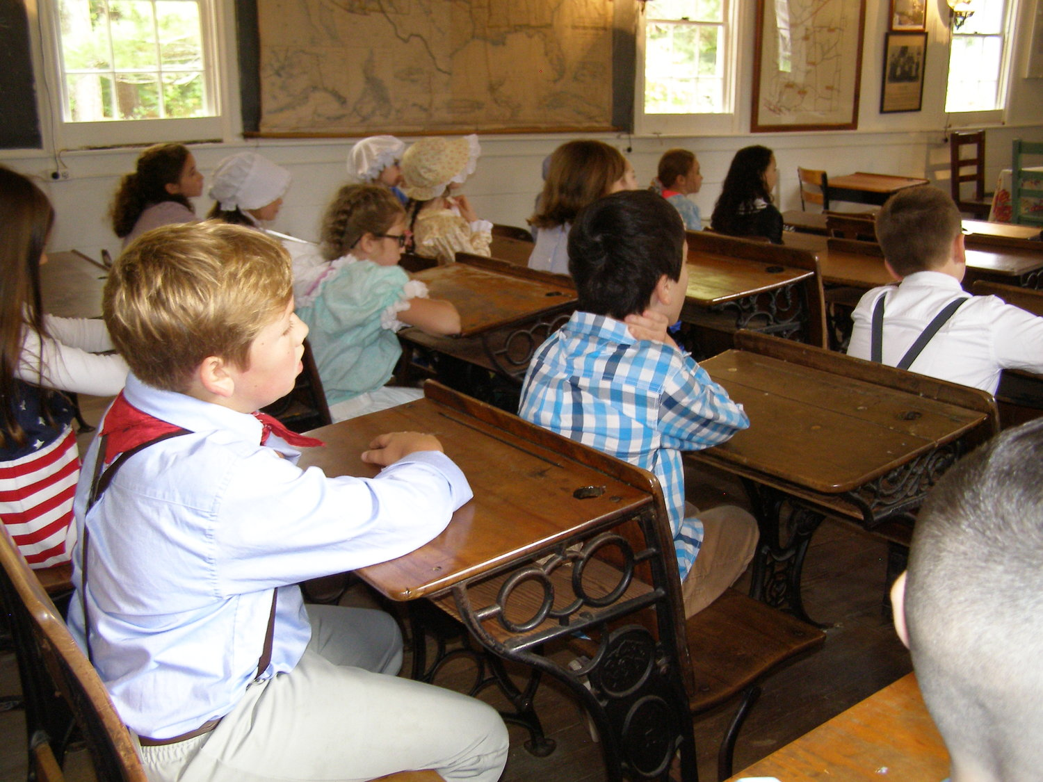 Third grade Students from Palmer River School seated and ready for the day's instruction