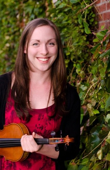 Julie Metcalf plays fiddle at the Rehoboth contra dance on Friday, November 22