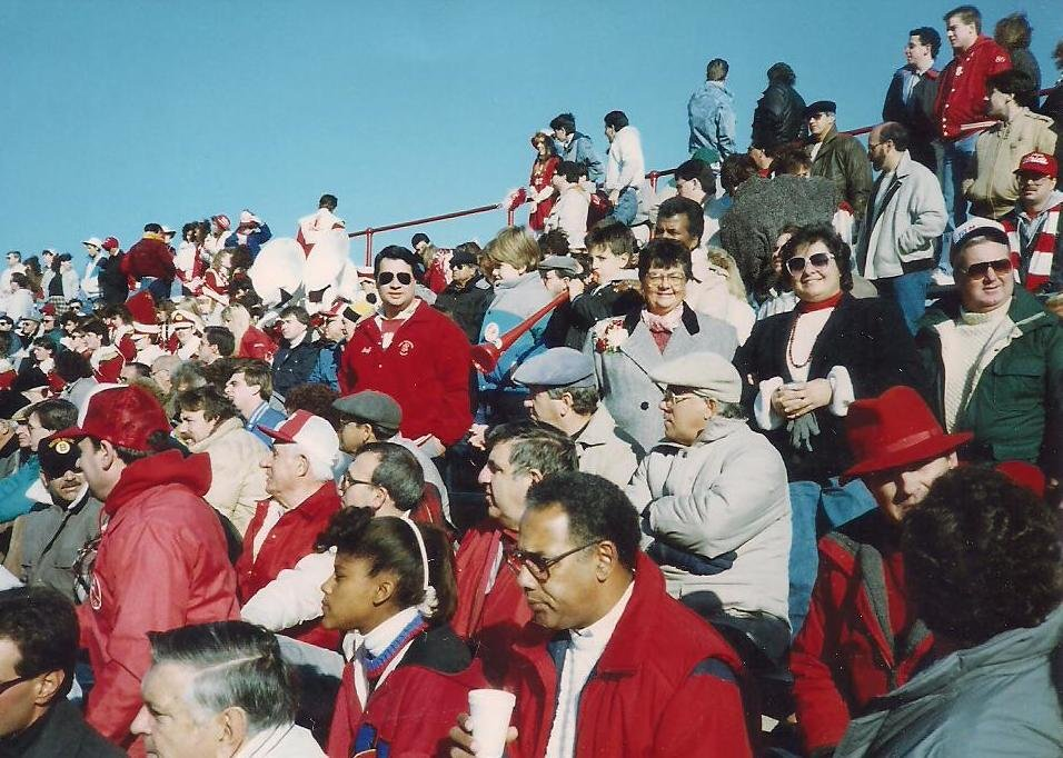 Large contingent of EP fans attending Thanksgiving game at Brown Stadium in the eighties.