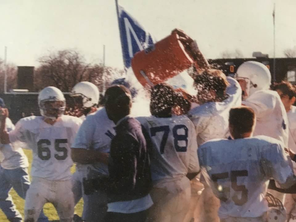 Martin celebrating state title in 1994