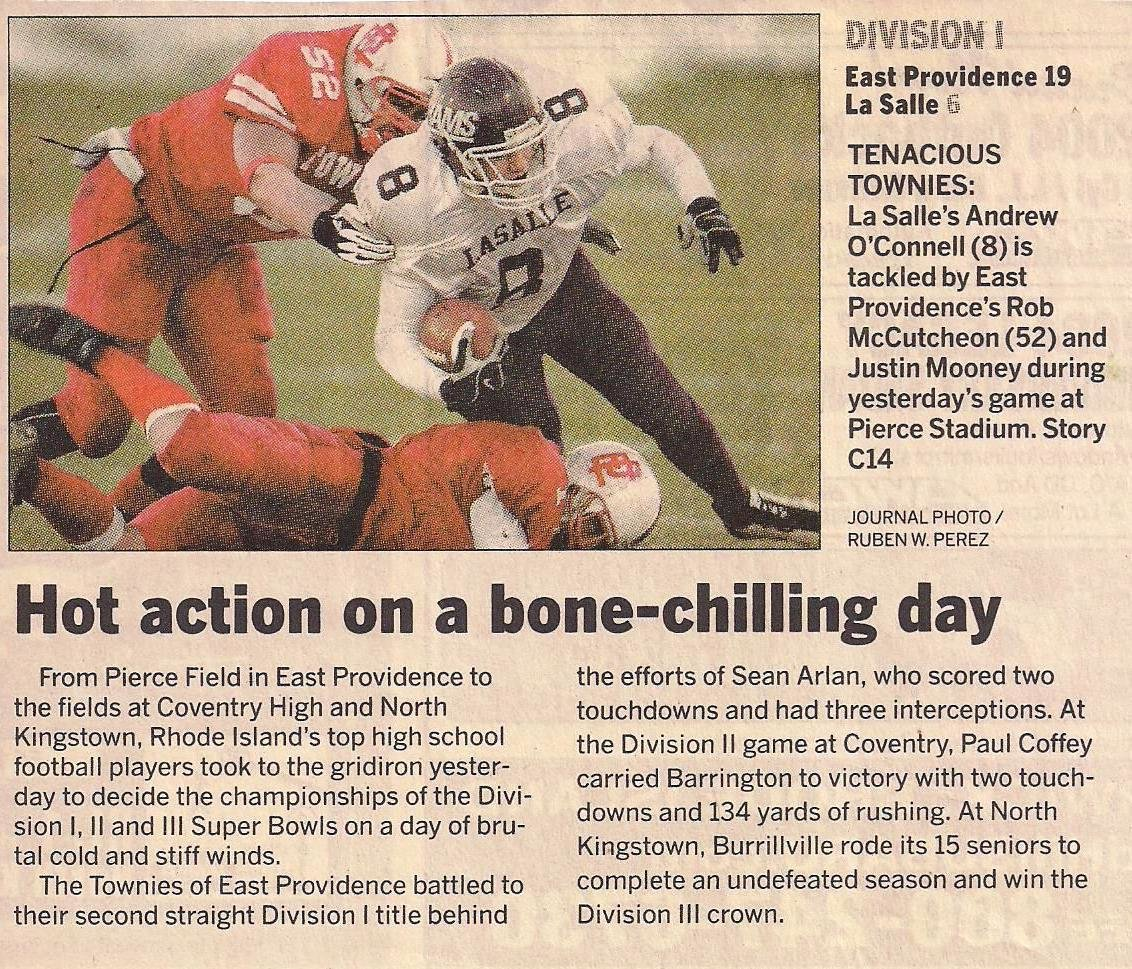 EP-LaSalle in 19-6 Superbowl 2003 Townies win