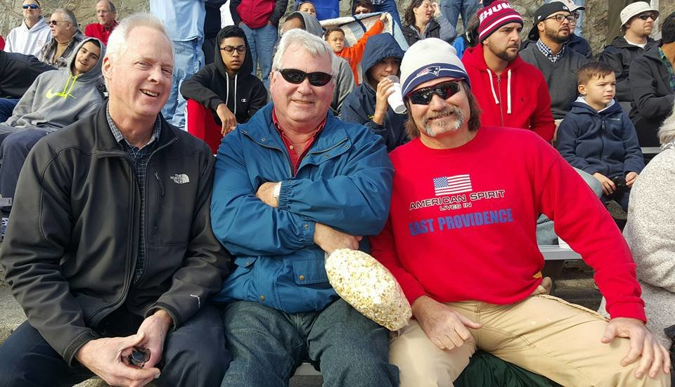Thanksgiving Day is about alumni and tradition. Attending the 2015 Ep - LaSalle game are former Townie greats, Kevin Rooney, '74; Steve Brady, '72 and Mike Whittet, '72.