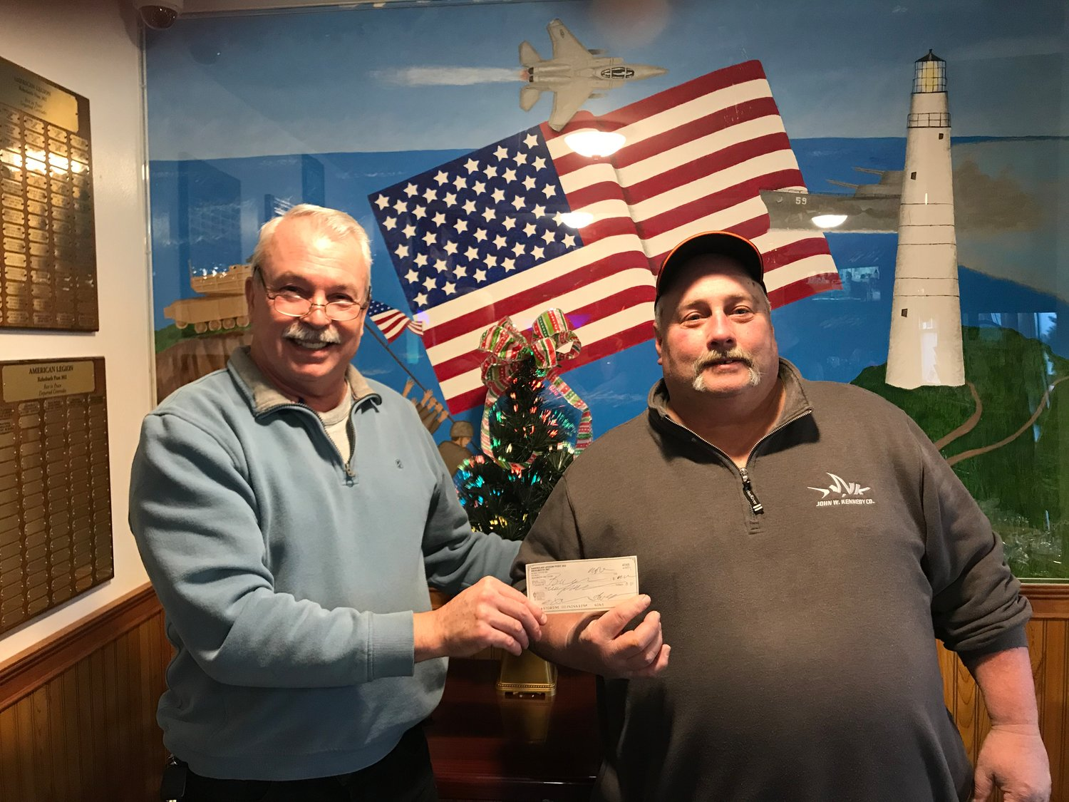 "Rehoboth Congregational Church donating $2,000.00 to the American Legions ""Service Account"