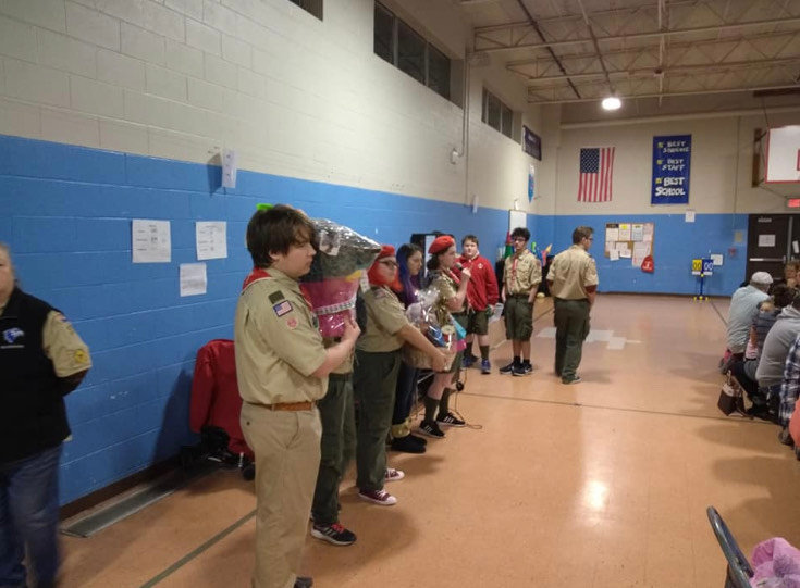 Scouts helping out at the Orlo Avenue elementary school Bingo.