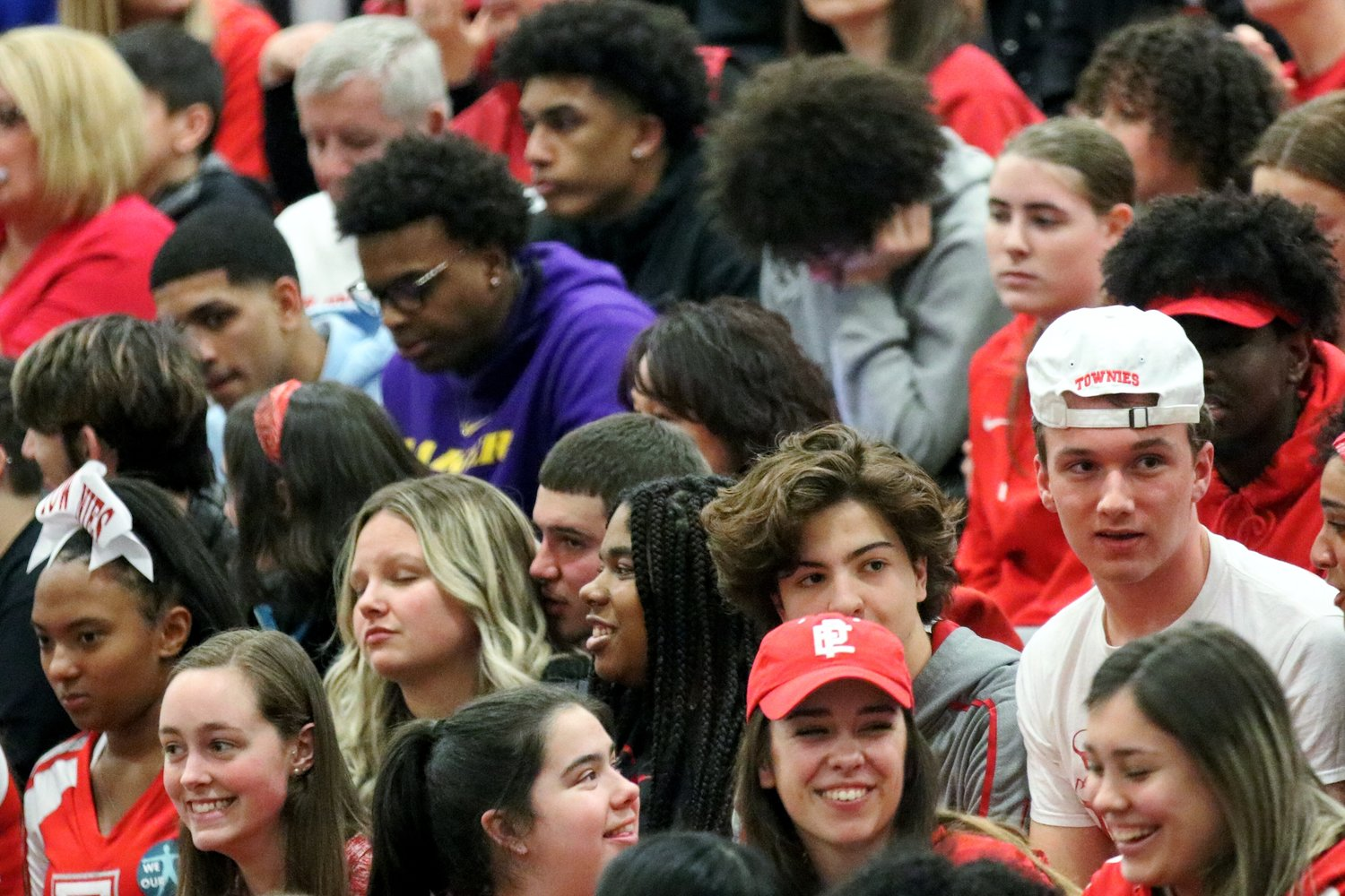 Townie fans at the final four game against Hendricken at CCRI in Warwick last week.