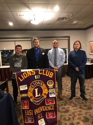 We are proud to introduce our newest members. Pictured left to right are Dante Pires, our District 42 Governor- Michael Hawes, Michael Arruda, and Jared Pires. Welcome aboard!
