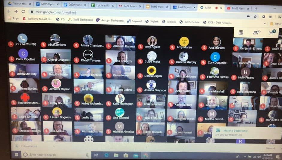 A virtual staff meeting at Martin Middle School