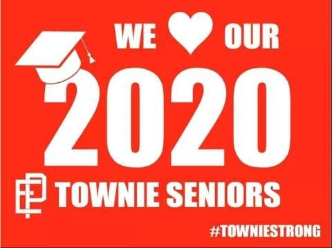 Townies 2020 yard sign