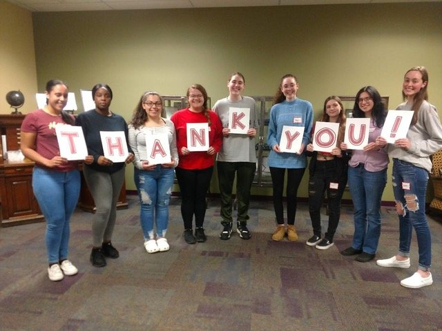 Students who participated in Scholarship Foundation of East Providence's recent phone-a-thon thank the community for their generous support. (Tues 3/10/20)