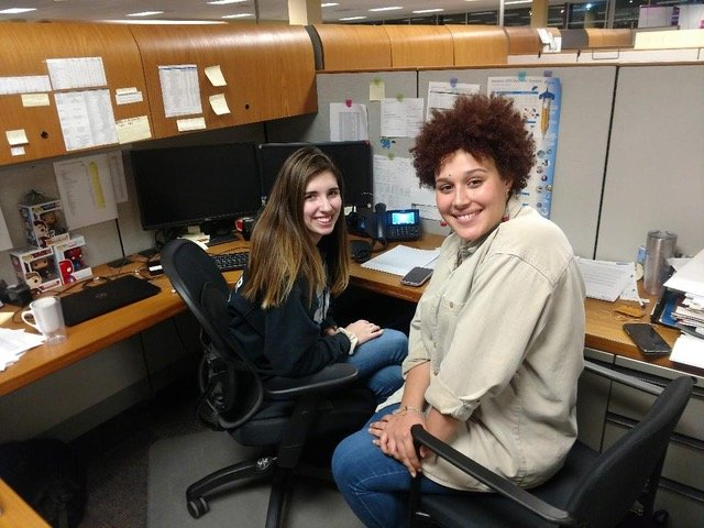 Past recipients Ashlyn Messier, a student at URI, and Kate Mendillo, studying at RIC, contacted other recipient families for support.