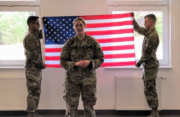 Being promoted to US Army Captain