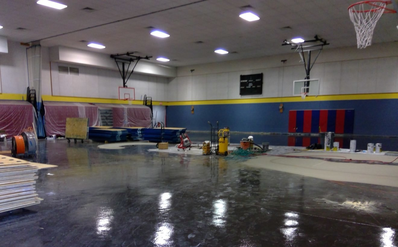 The Martin Elementary School gym replacement project is nearing completion.