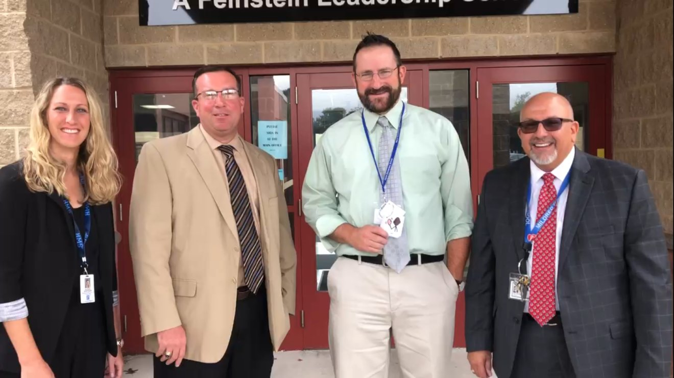 From left to right: Hurley Middle School Principal Alexis Bouchard, High School Principal Dr. William Whalen, Martin Elementary School Principal Bartholomew Lush and Aitken Elementary School Principal John Haidemenos. (Photo courtesy Seekonk Public Schools)