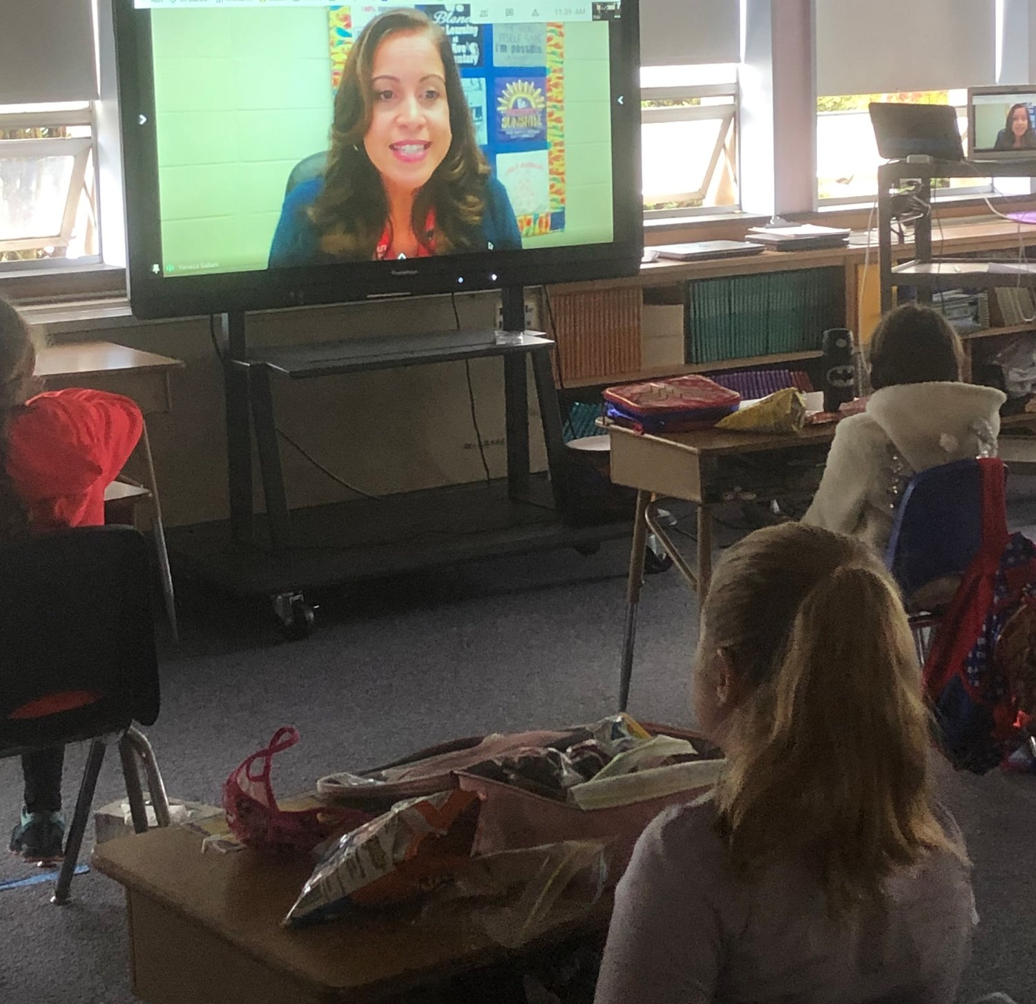 Mrs. Ruthven and Mrs. Caverly at Orlo Avenue have invited surprise guest readers virtually to their 2nd grade classroom during their Tuesday's lunch.  So far this year their classmate's parent read a great story, Mrs. Lodge read a story and taught the kids how to spin and weave, Mrs. Gallant, Multi Language Learner Director for the city, joined us and read a book about inclusivity and being kind to others.  They have loved their surprise Tuesday readers and can't wait to see who joins next.